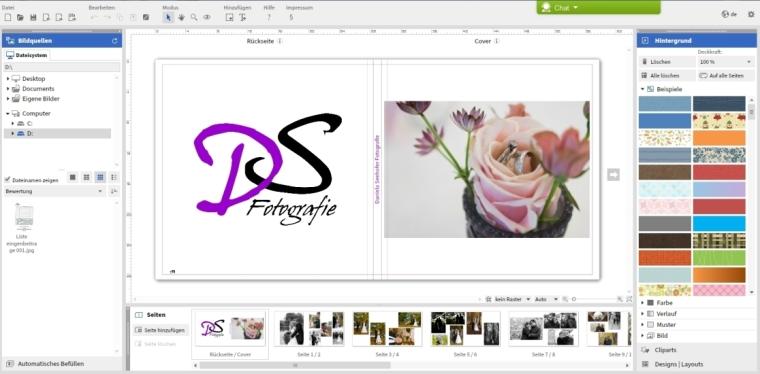 FotobuchErstellungSoftwareScreenshot